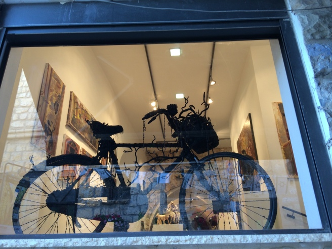 Bike in a window, Safed Israel