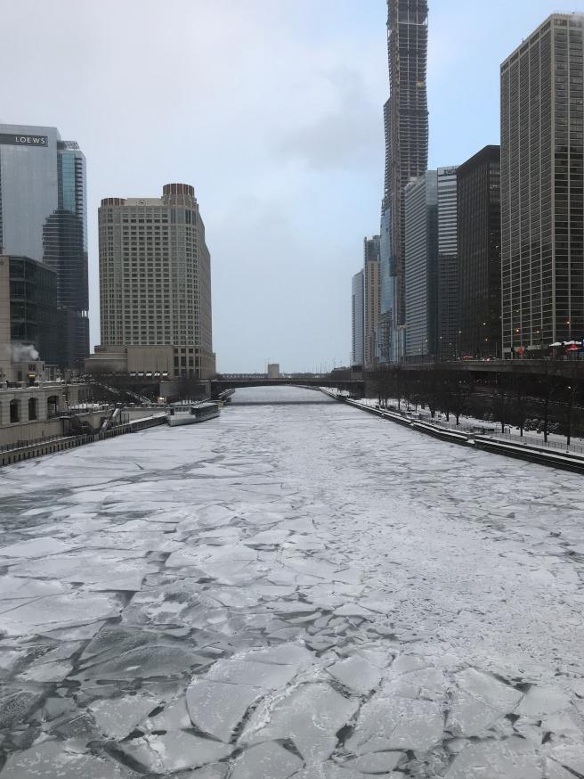 Frozen Chicago River